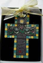 Silver Cross All Things Grow Better With Love Religious Spiritual Cross - $16.82