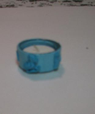 Blue Baby Polymer Clay Tealight Holder