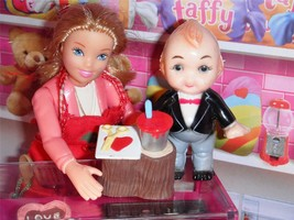 Hallmark Merry Miniature Valentine Tree Stump Cupie Doll fits Loving Family Doll - $6.99
