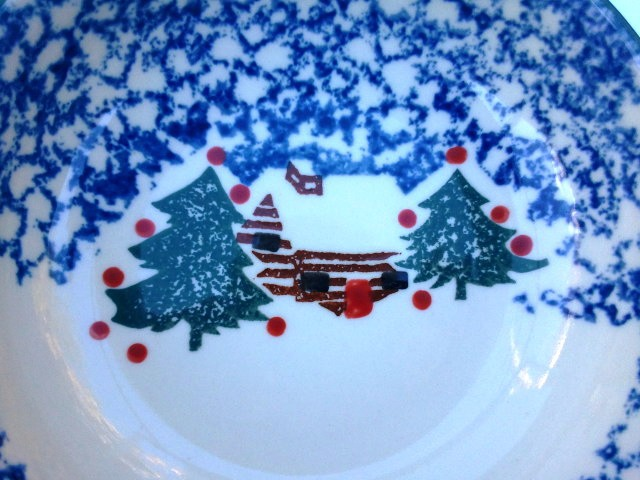 Tienshan Cabin in the Snow Bowls Set of 2