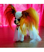 Amigurumi  Papillon Red/White Breed Puppy Dog Crochet Handmade Figurines... - $39.95