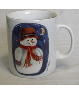 Snowman White Coffee Tea Hot Cocoa Mug - $5.95