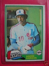 1981 TOPPS Andre Dawson EXPOS Outfield Card #125 - $6.92