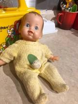 "Vintage Rare Molded Head Ideal Thumbelina Doll 10"" Tall 1970  still works  - $86.97"