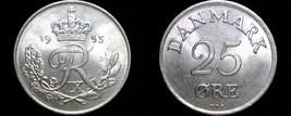 1953 Danish 25 Ore World Coin - Denmark - $17.99