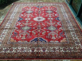 "Oriental Rug Fine super Kazak Wool  Hand Knotted Tribal Design Rug 5' 9"" X 8' - $1,583.01"