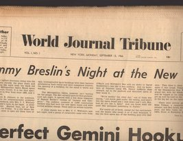 World Journal Tribune Newspaper (Vol. 1. #. 1) First Issue N. Y. Monday ... - $10.00