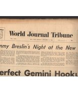 World Journal Tribune Newspaper (Vol. 1. #. 1) First Issue N. Y. Monday ... - $4.90