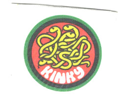 kinky screenprinted patch ideal for all clothing iron on sew on patch
