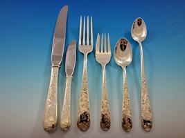 Old Maryland Engraved Kirk Sterling Silver Flatware Set 8 Service Dinner G Mono - $5,500.00