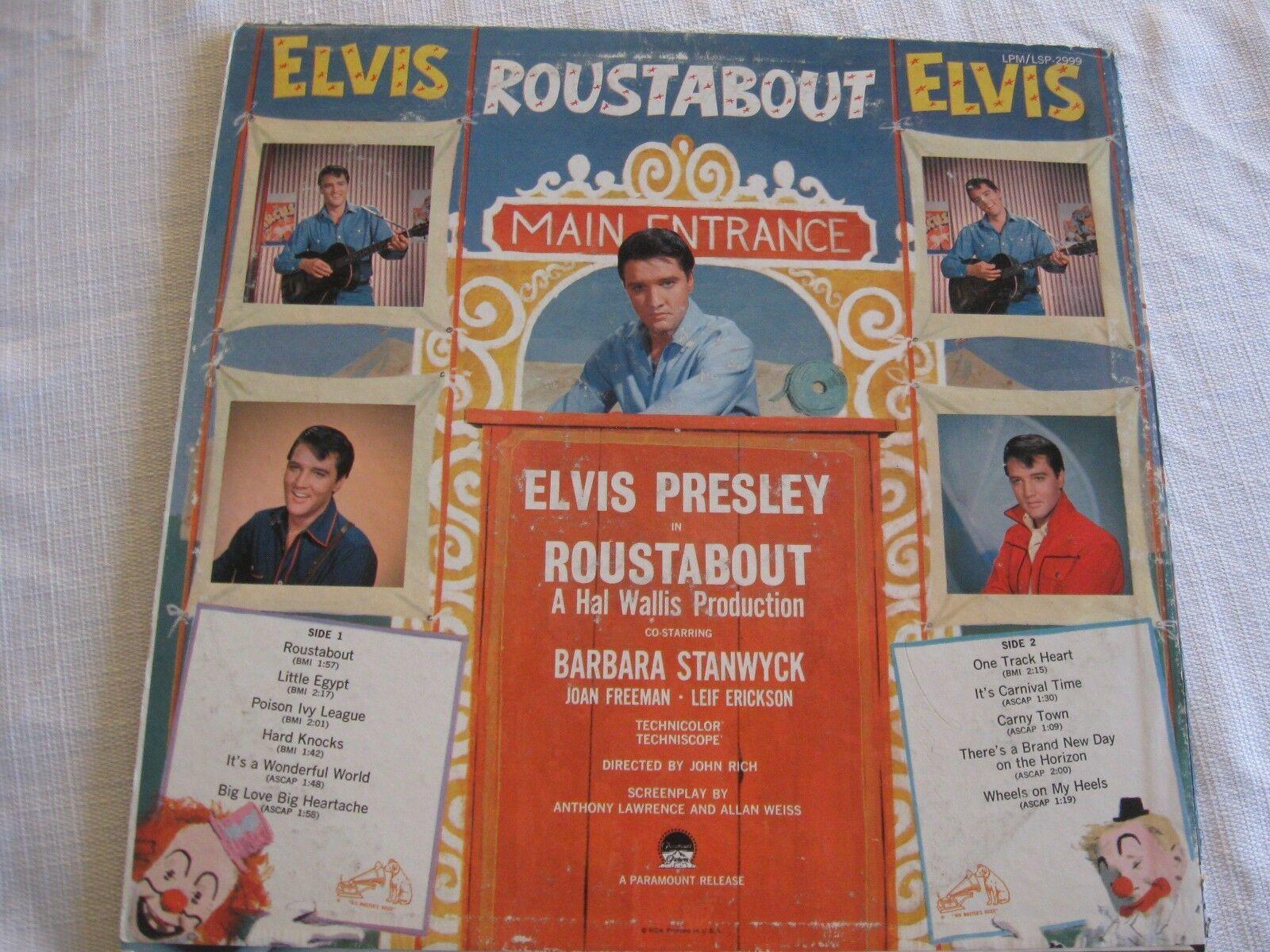 Elvis Presley Roustabout RCA LPM-2999 Mono Vinyl Record LP image 2