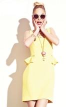 Betsey Johnson Yellow Daffodil  FY02K77 Sleeveless Dress NWT Sz  8, 10, 12 - $671,79 MXN