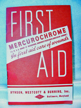 Vintage Mercurochrome First Aid Booklet 1950s - $6.00