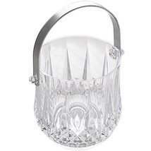 Bar Pub Wine Beer Bottle Ice Cubes Bucket Container With Silver Plating ... - $22.76