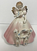VTG Josef Originals Birthday Girls 19 Years Old Angel Wings Figurine Pink - $24.75