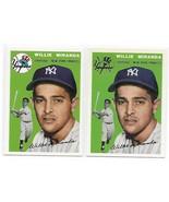 1954 Topps Archives Willie Miranda New York Yankees #56 Gold & Regular 2... - $1.28