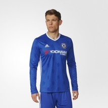 New Adidas Men's Chelsea  Long Sleeve Home Jersey Blue shirt tee xs s - $83.50