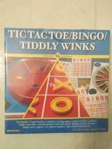 Vintage Tic Tac Toe Bingo Tiddly Winks Classic Games - $15.83