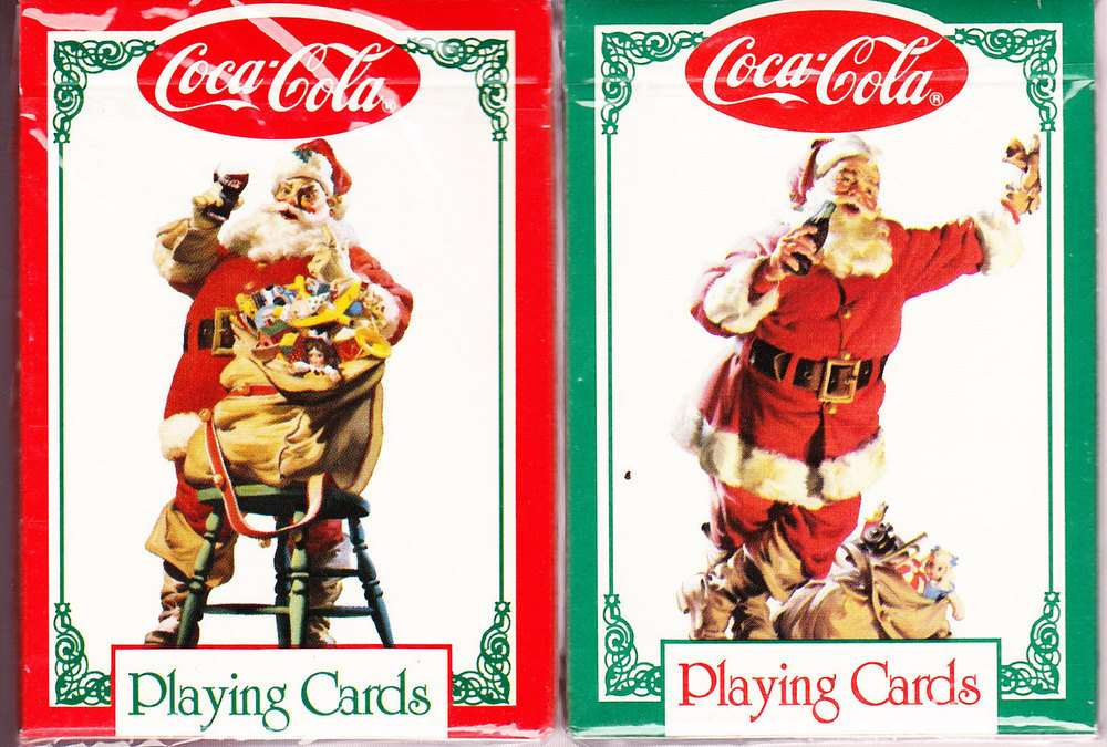 NEW COCA-COLA NOSTALGIA CARDS IN TIN SANTAS 1994