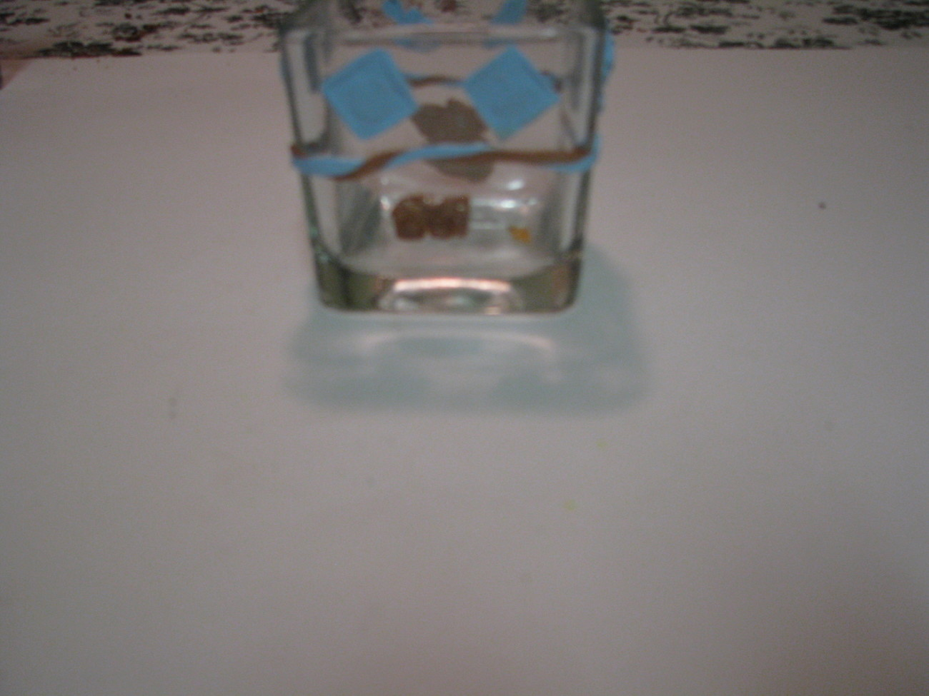 Blue and Copper Baby Polymer Clay Changing Table Cube