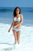 Jacqueline Bisset romping in surf in white bikini 18x24 Poster - $23.99