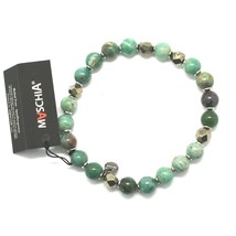 SILVER 925 BRACELET WITH HEMATITE AND JASPER BBUS-5 MADE IN ITALY BY MAS... - $56.61