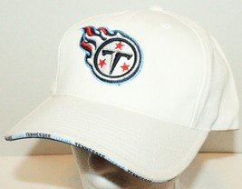 Tennessee Titans - Nfl Team Football Logo Athletic White Cap Hat New One Size - $9.39