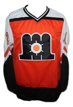 Any Name Number Maine Mariners Retro Hockey Jersey Orange Any Size image 1