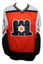 Custom Name # Maine Mariners Retro Hockey Jersey New Orange Any Size image 1