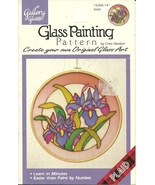 Glass Painting Pattern Irises Booklet Gallery Glass - $9.98