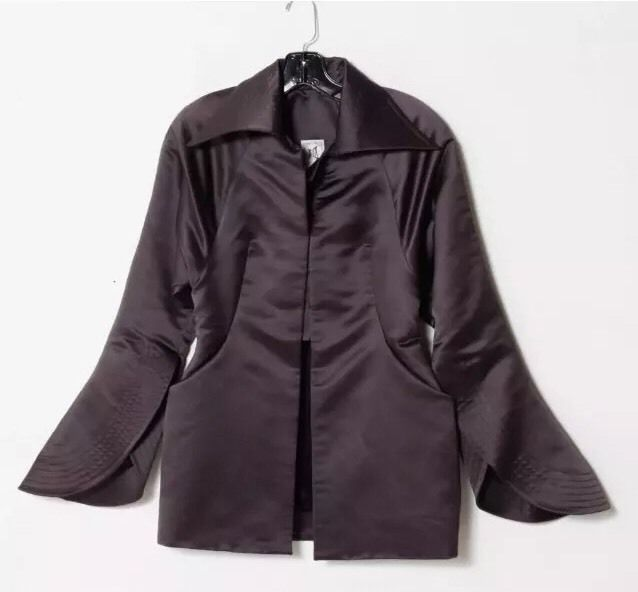 Colleen Quen Couture Gunmetal Gray Dressing Jacket, Size M/L? (see Description)