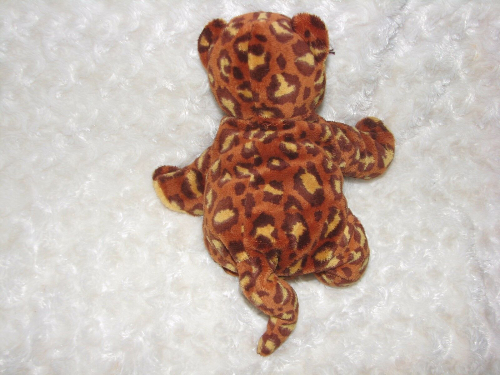 TY Pluffies POKEY the LEOPARD Plush Baby Cheetah Jaguar lovey soft Tylux 2003 9""