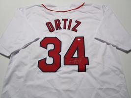 DAVID ORTIZ / AUTOGRAPHED BOSTON RED SOX WHITE CUSTOM BASEBALL JERSEY / COA image 1