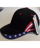 Mens NWT Magic Headwear Black Red White Blue Ball Cap Adult - $5.95
