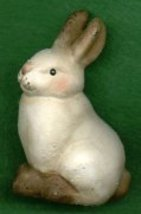 CERAMIC SITTING BUNNY RABBIT - $7.00