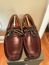 TIMBERLAND Annapolis Two Eyed Moc Bur Men's Leather Rootbeer Size 11 - $79.99