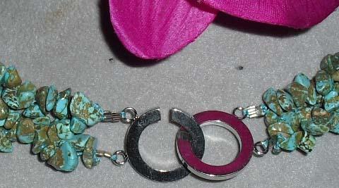 Breathtaking Genuine  Turquoise Stone  Necklace