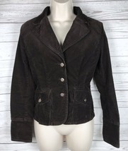 Tommy Hilfiger Corduroy Blazer Jacket Women's S Brown Stretch Button Lon... - $16.99