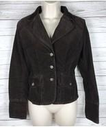Tommy Hilfiger Corduroy Blazer Jacket Women's S Brown Stretch Button Lon... - $16.99