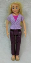Fisher Price Loving Family Sister Teen Figure Doll Purple Cardigan Purpl... - $15.83
