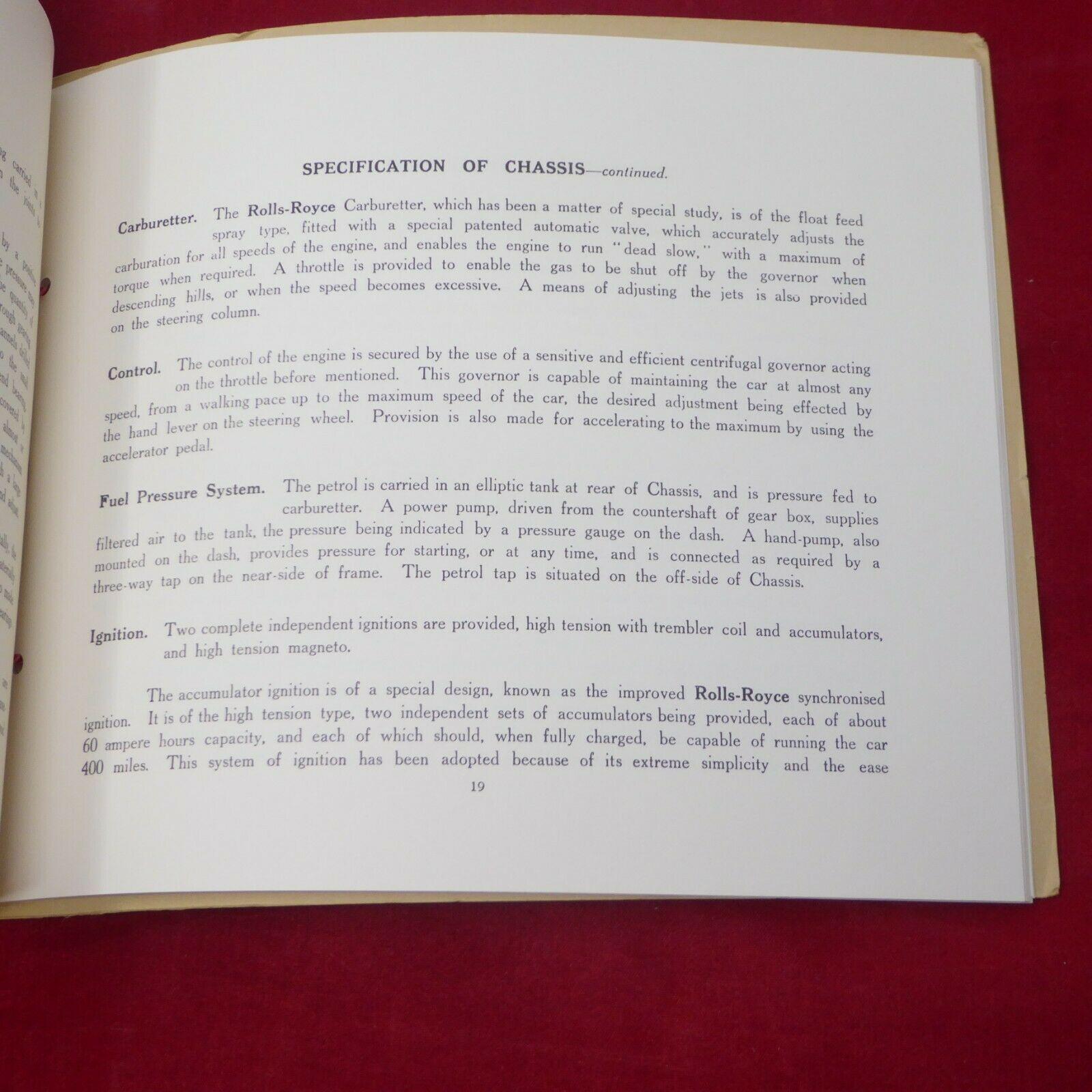 ROLLS ROYCE Miniature Catalogue Brochure and 39 similar items