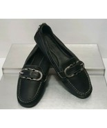 Cole Haan Black Leather Mocas Buckle Strap Loafer Women's 8 B Driving Shoes - $39.60