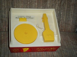 Vintage Working 1971 Fisher Price Music Box Record Player 5 Discs Complete - $25.00
