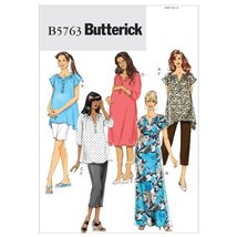 Butterick Patterns 5763 Women's Maternity Top, Dress, Belt, Shorts and P... - $14.70