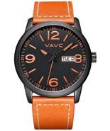 VAVC Men's Fashion Minimalist Casual Brown Leather Band Analog Quartz Wr... - $76.07