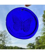 Blenko Glass Suncatcher - Butterfly - Cobalt - $18.95