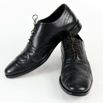 "Italian Black "" BRUNO MAGLI "" Mens 9 M Leather Wingtip Dress Shoes - $45.64"