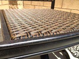 Patio wicker bar stools with arms set of 6 Santa Clara cast aluminum Dark Bronze image 3