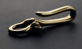 Brass Solid U Shape Hook Car Keychain Key Ring Bangle Wallet Chain Cloth... - $17.96