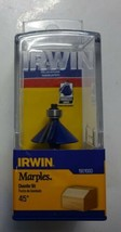 "Irwin Tools 1901000 Marples 45 Degree Chamfer Router Bit , 1/4"" Shank - $10.89"